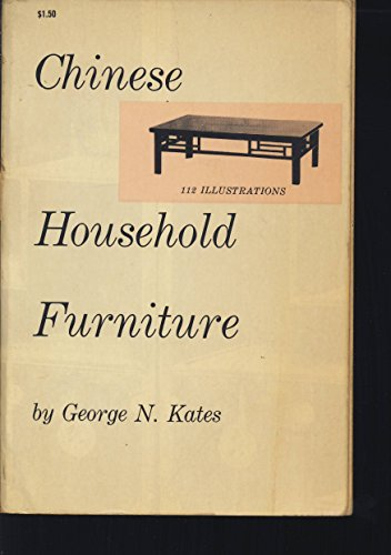 9780486209586: Chinese Household Furniture