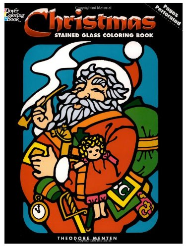 9780486211190: Christmas Stained Glass Coloring Book (Holiday Stained Glass Coloring Book)