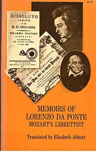 9780486217062: Memoirs of Lorenzo Da Ponte.