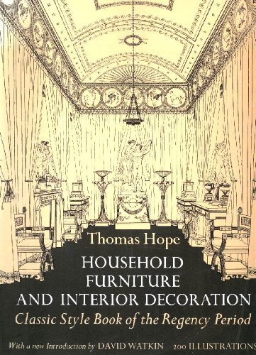 9780486217109: Household Furniture and Interior Decoration: Classic Style Book of the Regency Period