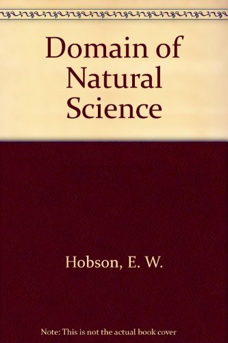 9780486219660: Domain of Natural Science