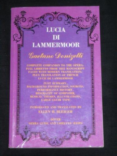 9780486221106: Lucia Di Lammermoor (Opera Guide & Libretto)