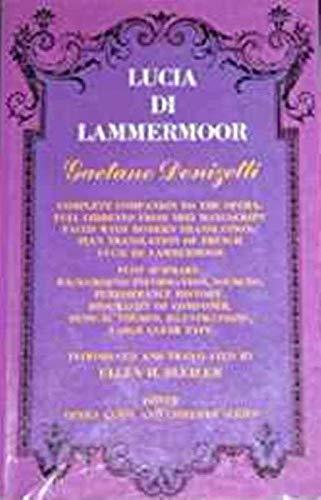 9780486221106: Lucia Di Lammermoor (Opera Guide & Libretto) (English and French Edition)