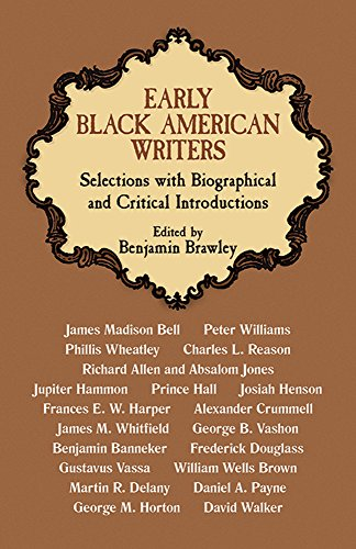 9780486226231: Early Black American Writers (Black Rediscovery)