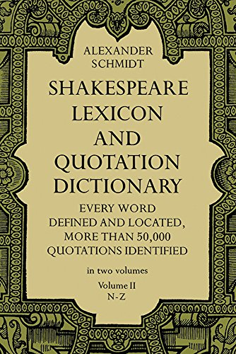 9780486227276: Shakespeare Lexicon and Quotation Dictionary, Vol. 2: v. 2