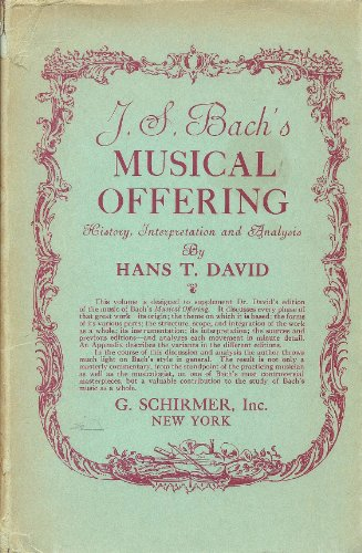9780486227689: J.S. Bach's Musical Offering: History, Interpretation and Analysis