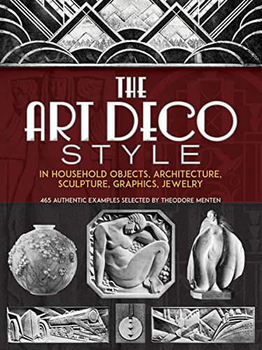 9780486228242: The Art Deco Style in Household Objects, Architecture, Sculpture, Graphics, Jewelry: 468 Authentic Examples