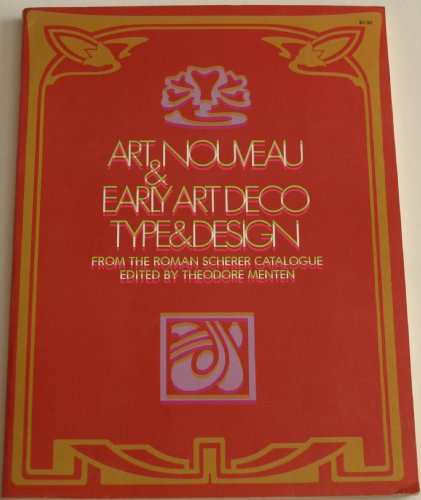 9780486228259: Art Nouveau & Early Art Deco Type & Design, from the Roman Scherer Catalogue (Dover Pictorial Archives)
