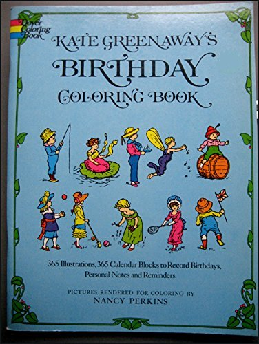 Kate Greenaway's Birthday Coloring Book (Colouring Books): Greenaway, Kate