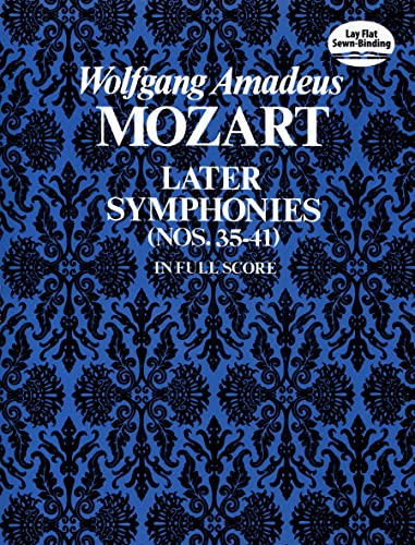 9780486230528: Later Symphonies: Nos. 35-41 in Full Score (Dover Orchestral Scores)