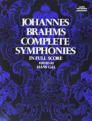 9780486230535: Johannes Brahms Complete Symphonies in Full Score (Vienna Gesellschaft Der Musikfreunde Edition)