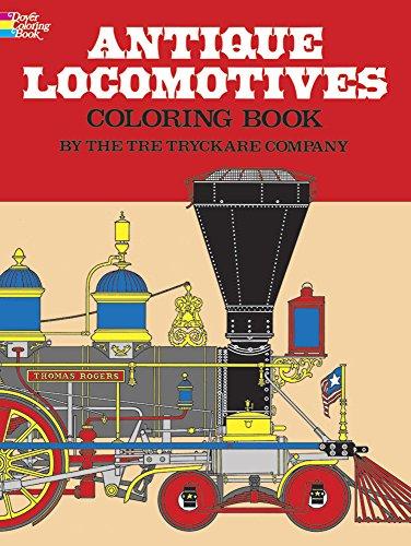 9780486232935: Antique Locomotives Coloring Book