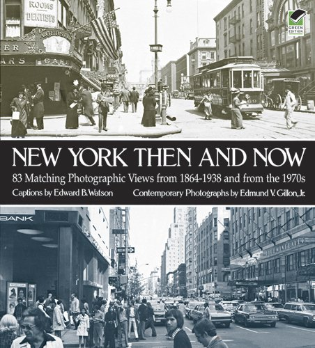 9780486233611: New York Then and Now (New York City)
