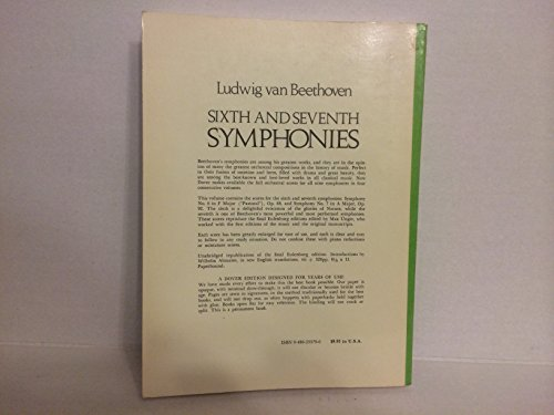 9780486233796: Sixth and Seventh Symphonies in Full Orchestral Score