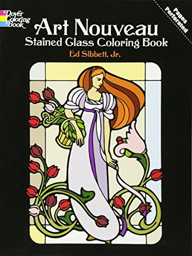9780486233994: Art Nouveau Stained Glass Coloring Book
