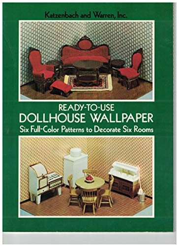 9780486234953: Ready-To-Use Dollhouse Wallpaper: Six Full-Color Patterns to Decorate Six Rooms