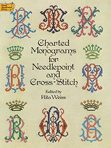 9780486235554: Charted Monograms for Needlepoint and Cross-Stitch
