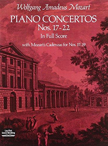 9780486235998: Piano Concertos Nos. 17-22 in Full Score (Dover Music Scores)