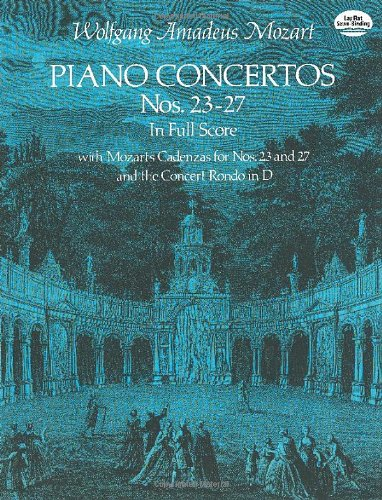 9780486236001: Piano Concertos Nos. 23-27 in Full Score (Dover Music Scores)