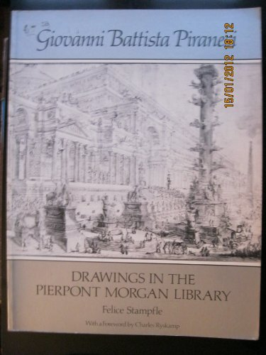 9780486237145: Giovanni Battista Piranesi: Drawings in the Pierpont Morgan Library
