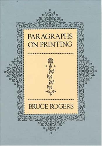 9780486238173: Paragraphs on Printing