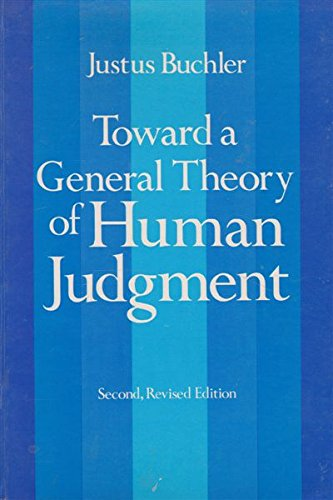 9780486238746: Toward a General Theory of Human Judgment