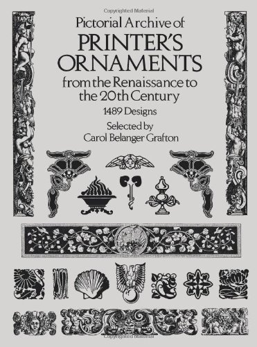 9780486239446: Pictorial Archive of Printer's Ornaments: from the Renaissance to the 20th Century (Dover Pictorial Archive Series)
