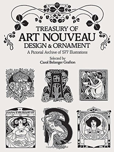 9780486240015: Treasury of Art Nouveau Design and Ornament: A Pictorial Archive of 577 Illustrations