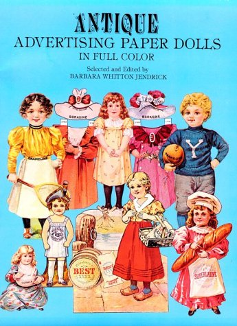 9780486240459: Antique Advertising Paper Dolls