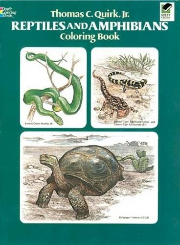 9780486241111: Reptiles and Amphibians Coloring Book (Dover Nature Coloring Book)