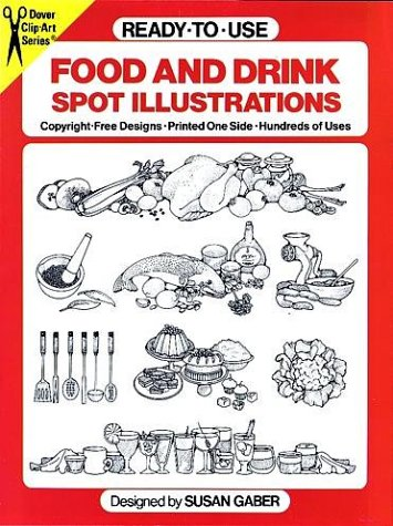 9780486241395: Ready-to-Use Food and Drink Spot Illustrations (Dover Clip Art)