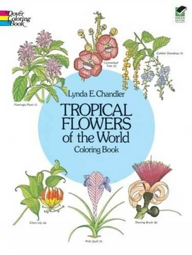 9780486242064: Tropical Flowers of the World Coloring Book