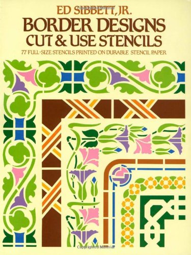 9780486242477: Border Designs Cut & Use Stencils (Dover Stencils)