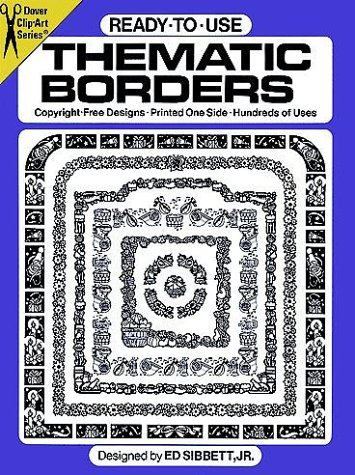 Ready-to-Use Thematic Borders (Dover Clip-Art Series): Sibbett Jr., Ed