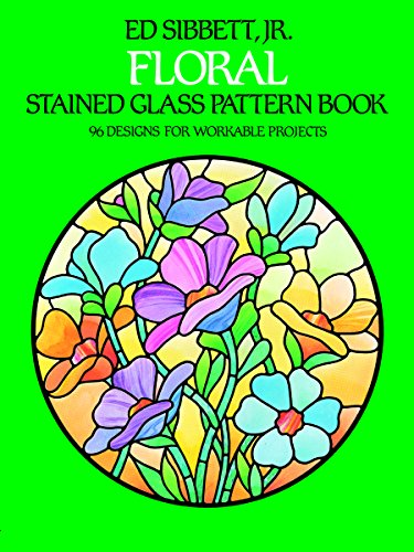 9780486242590: Floral Stained Glass Pattern Book
