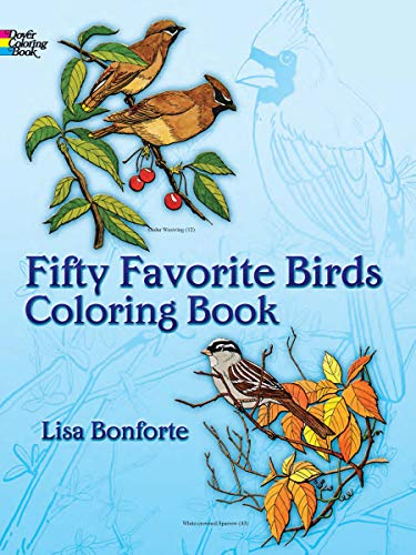 9780486242613 Fifty Favorite Birds Coloring Book
