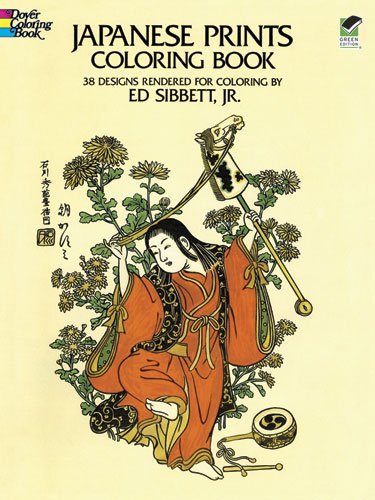 Japanese Prints Coloring Book Dover Design Jr Ed Sibbett