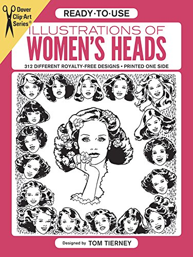 9780486243412: Ready-to-Use Illustrations of Women's Heads (Dover Clip Art Ready-to-Use)