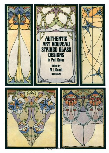 9780486243627: Authentic Art Nouveau Stained Glass Designs in Full Color (Dover Pictorial Archive Series)