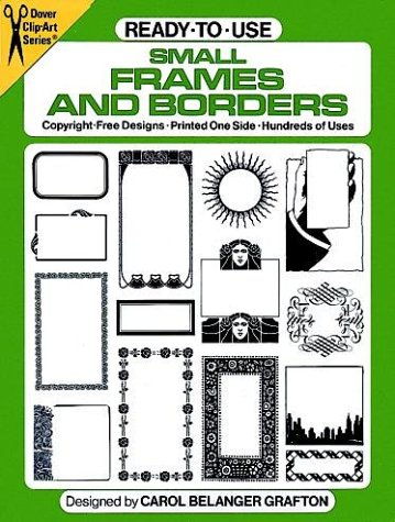 9780486243757: Ready-to-Use Small Frames and Borders (Dover Clip Art)