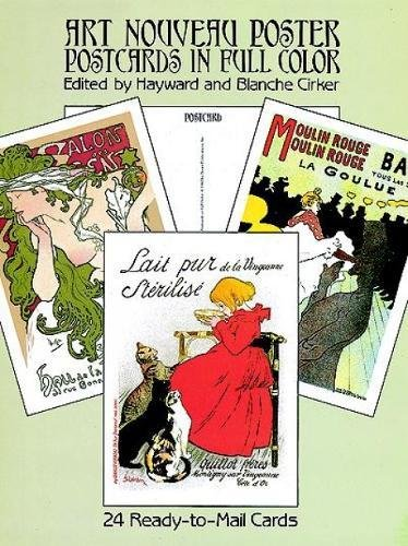 Art Nouveau Poster Postcards in Full Color from Classic Posters: 24 Ready-To-Mail Cards