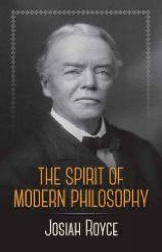 9780486244327: The Spirit of Modern Philosophy: An Essay in the Form of Lectures