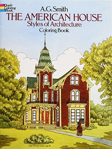 9780486244723 the american house styles of architecture colouring