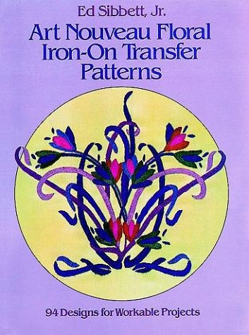 9780486246413: Art Nouveau Floral Iron-on Transfer Patterns