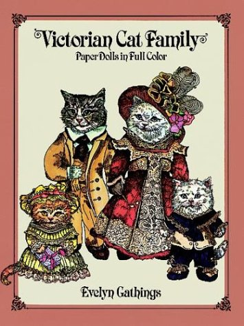 9780486247021: Victorian Cat Family Paper Dolls in Full Color
