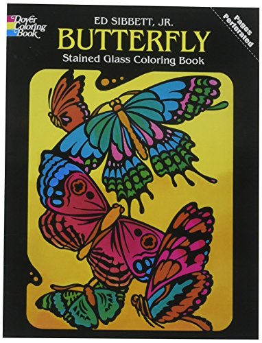 9780486248202: Butterfly Stained Glass (Dover Nature Stained Glass Coloring Book)