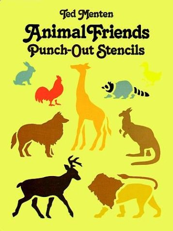 9780486249384: Animal Friends Punch-Out Stencils