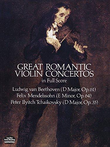 9780486249896: Great Romantic Violin Concertos in Full Score