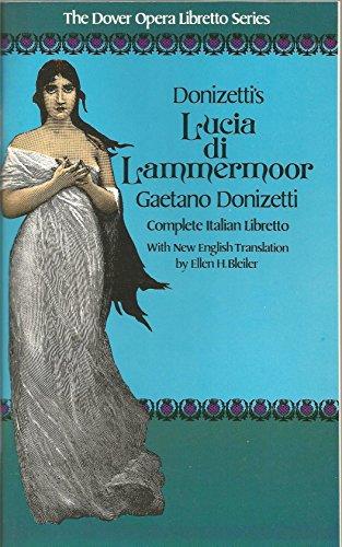 9780486250205: Donizetti Lucia DI Lammerr Libto (The Dover opera libretto series)