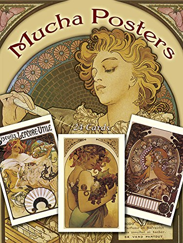 9780486250809: Mucha Poster Postcards in Full Colour: Twenty Four Ready-to-Mail Cards (Dover Postcards)